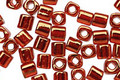 TOHO Gold Lustered African Sunset Cube 4mm Seed Bead