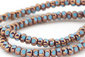 Czech Glass Bronzed Sky Blue Trica Beads 3x4mm