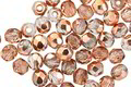 Czech Glass Crystal w/ Rose Gold Fire Polished Round 4mm