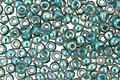 TOHO Rainbow Light Sapphire (with Opaque Teal Lining) Round 11/0 Seed Bead
