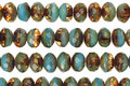Czech Glass Sky Blue & Amber Picasso Fire Polished Rondelle 3x5mm