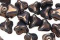 Czech Glass Metallic Teal Bellflower 6x7mm
