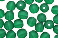 Czech Glass Matte Green Emerald Round 6mm