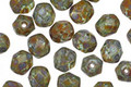 Czech Glass Water Lilies Fire Polished Round 6mm