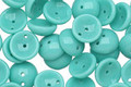 Czech Glass Turquoise 2-Hole Piggy Bead 8mm