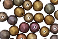Czech Glass Autumn Metallics Mix Round Druk 6mm