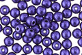 Czech Glass ColorTrends: Saturated Metallic Super Violet Round 4mm