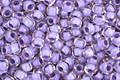 TOHO Crystal (with Neon Purple Lining) Round 11/0 Seed Bead