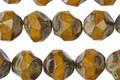 Czech Glass Sunflower Picasso Chandelier Cut 8mm