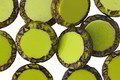 Czech Glass Chartreuse Picasso Tribal Coin 12mm