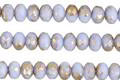Czech Glass Icy Blue w/ Gold Luster Fire Polished Rondelle 3x5mm