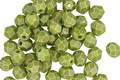 Czech Fire Polished Glass Sueded Gold Olive Round 4mm