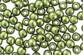 Czech Glass ColorTrends: Sueded Gold Fern Round 2mm