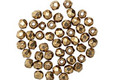 Czech Fire Polished Glass Bronze Round 2mm