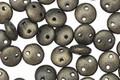 CzechMates Glass Dark Green Metallic Suede 2-Hole Lentil 6mm