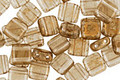 CzechMates Glass Black Diamond with Gold Marble 2-Hole Tile 6mm