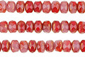 Czech Glass Bronzed Rose Garden Fire Polished Rondelle 3x5mm