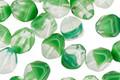 Czech Glass Leaf Green w/ Crystal Bicone 7mm