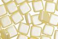 CzechMates Glass Pearl Coat Cream 2-Hole Tile 6mm