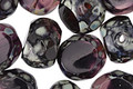 Czech Glass Amethyst Picasso Slice Faceted Round 12mm