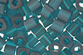 TOHO Transparent Frosted Teal Cube 3mm Seed Bead