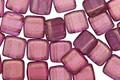 CzechMates Glass Halo Madder Rose 2-Hole Tile 6mm