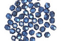 Czech Fire Polished Glass Blue Metallic Suede Round 3mm