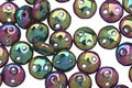 CzechMates Glass Iris Purple 2-Hole Lentil 6mm