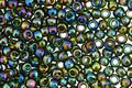 TOHO Transparent Rainbow Olivine Round 8/0 Seed Bead