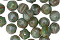 Czech Glass Jungle Green Picasso Melon Round 6mm