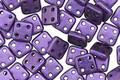 CzechMates Glass Metallic Suede Purple 4-Hole Square QuadraTile 6mm