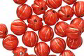 Czech Glass Bronzed Coral Melon Round 6mm