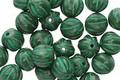 Czech Glass Kelly Green Melon Round 6mm