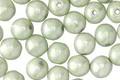 Czech Glass Lustered Stone Green Round Druk 6mm