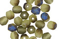 Czech Fire Polished Glass Matte Olivine AB Round 5mm