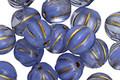 Czech Glass Bronzed Sapphire Melon Round 8mm