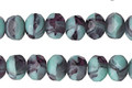 Czech Glass Turquoise Twilight Fire Polished Rondelle 5x7mm
