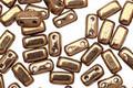 CzechMates Glass Bronze 2-Hole Brick 3x6mm