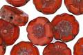 Czech Glass Hyacinth Hibiscus Coin 12mm