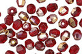 Czech Glass Bronzed Ruby Fire Polished Round 4mm