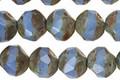 Czech Glass Light Cornflower Opalite Picasso Chandelier Cut 8mm