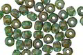 Czech Glass Emerald Turquoise Sky Picasso Trica Beads 2.5x4mm