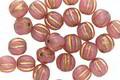 Czech Glass Desert Rose w/ Gold Melon Round 5mm