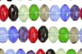 Czech Glass Jewel Mix Fire Polished Rondelle 4x7mm