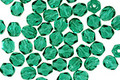 Czech Fire Polished Glass Emerald Round 4mm