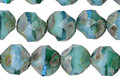 Czech Glass Emerald Skies Picasso Chandelier Cut 8mm