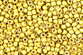 TOHO Permanent Galvanized (Matte) Yellow Gold Round 11/0 Seed Bead