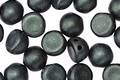 CzechMates Glass Metallic Suede Dark Forest 2-Hole Cabochon 7mm