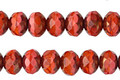 Czech Glass Bronzed Coral Reef Fire Polished Rondelle 5x7mm