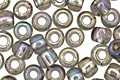 TOHO Transparent Rainbow Black Diamond Round 6/0 Seed Bead